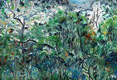 Brousse, forêt de la Thi, Nouméa. 1961, Huile, 42 X 61 cm