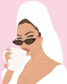 how to drawings Beauty Illustration, Portrait Illustration, Graphic Illustration, Illustrations, Graphic Art, Black Girl Art, Art Girl, Nu Skin, Feminist Art