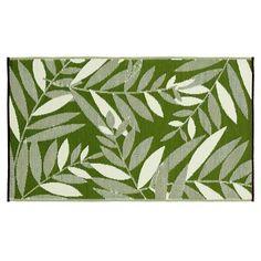 Teppich Outdoor Blätter grün ca L:150 x B:206 cm (95% Polyropylen, 5% Polyester)