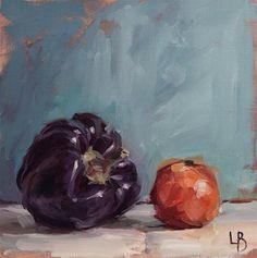 "Daily Paintworks - ""Purple and Orange"" - Original Fine Art for Sale - © Ollie Le Brocq"