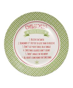 Another great find on #zulily! 'Christmas House Rules' Porcelain Plate #zulilyfinds