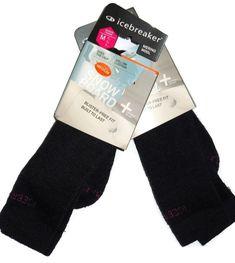 0a23d4866 Icebreaker womens 2 pair Black merino wool tall ski snowboard Socks M  retail  72  fashion