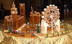 This luscious model of London. | 20 Unbelievable Gingerbread Houses You'll Want To Live In