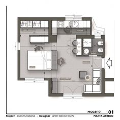 Hotel Floor Plan, House Floor Plans, Plane 2, Architectural Floor Plans, Interior Design Presentation, Tiny Apartments, Architecture Plan, Open Space Architecture, Apartment Plans