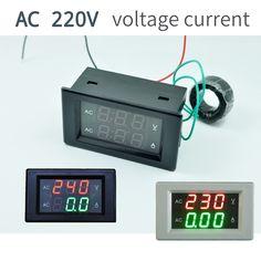 AC300V100A CT 50HZ 110V 220V 240V Digital Voltmeter Ammeter Dual LED Digital Amp Volt Meter Gauge Voltage Meters   #Affiliate
