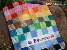 Easy Pezzy Childrens Crib Quilt free pattern at the Moda Back Shop by PileOFabric.com #quiltingtutorial #quiltpattern