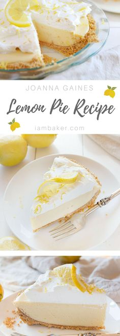 Perfection in every bite! This will be the only Lemon Pie recipe you'll ever need! #iambaker #lemonpie #pie #lemon