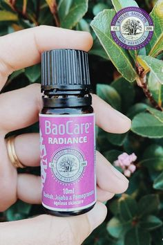 We know that the beauty, suppleness and youthfulness of your skin is really important to you, and you only want to use 100% natural, pure ingredients on your skin. BaoCare's Radiance is specially formulated for the face, neck and hands. Click to read more about this luxurious facial oil made from Baobab Oil, Jojoba and Pomegranate extracts..   #baocareskincare #baobaboil #naturalcare #radiantglow #facialoil #plantbasedskincare #veganbeauty #crueltyfreeskincare Baobab Oil, Pomegranate Extract, Vegan Beauty, Facial Oil, Natural Glow, Collagen, Perfume Bottles, Fragrance, Hands