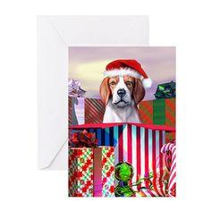 Beagle Claus Christmas Greeting Cards (Pk of 10) on CafePress.com