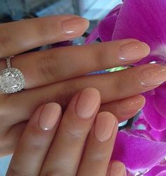 Beautiful Rounded Pink Nails for Prom
