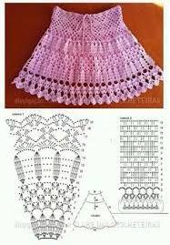 Resultado de imagen para faldas de niña tejidos a crochet solo patrones pdf