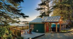 Rainforest in Canada? Yes, there's such a thing. And you can stay in it — on Vancouver Island's west coast amid 600 acres of forest, to be precise. Wya Point Resort is minutes from Pacific Rim National Reserve, and the variety of accommodations include lodges, campsites and furnished yurts.  The gas stove-heated yurts sleep up to five guests, have decks with grills are are near private beaches.