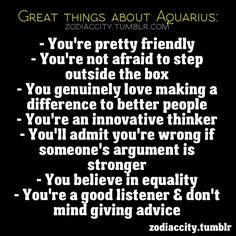 Great Things About Aquarius