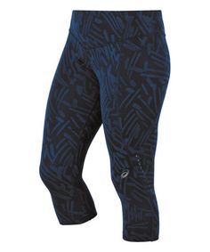 Look what I found on #zulily! Cobalt Blue Palm Graphic Knee-Tight Capri Leggings #zulilyfinds