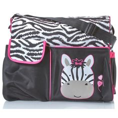 Zebra Print Diaper Tote ($20) ❤ liked on Polyvore featuring baby, baby stuff, baby girl, bags and totes
