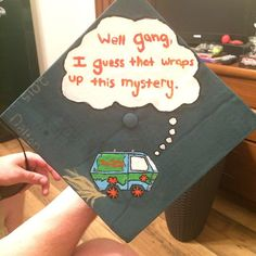 Scooby doo themed grad cap design // follow us Motivation2Study for daily inspiration