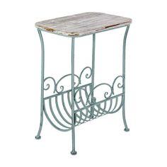Mesa com Revisteiro Azul Velho