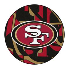 49ers Pictures, 49ers Fans, Football Team Logos, Nfl San Francisco, Nylon Carpet, Round Area Rugs, Design Competitions, National Football League, Chicago Cubs Logo