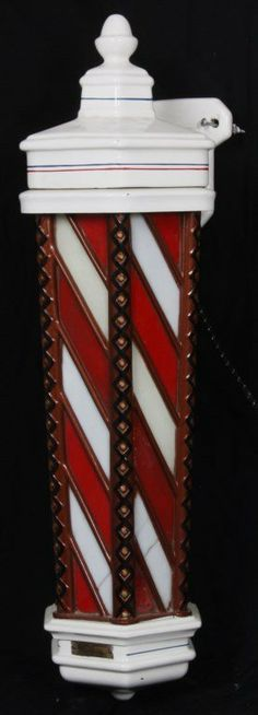 Koken Porcelain & Cast Iron Barber Pole