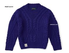 Вязаный свитер спицами от Ralph Lauren - СХЕМЫ http://mslanavi.com/2017/01/vyazanyj-sviter-spicami-ot-ralph-lauren/