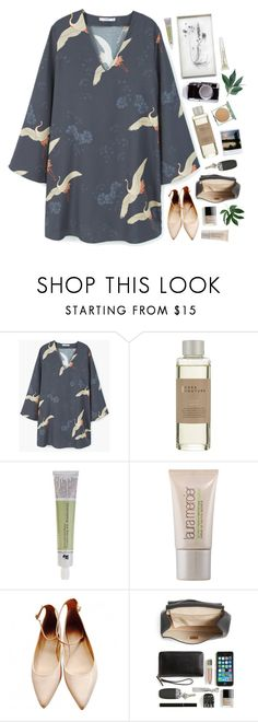 """""""Set 932 ft. MANGO Flowy Printed Dress"""" by yen-and-len ❤ liked on Polyvore featuring MANGO, Casa Couture, Korres, Laura Mercier, SAM., Zara, Chloé and OPI"""