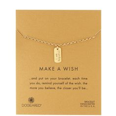 """Dogeared Make a Wish 14K Gold Dipped Sterling Silver """"""""I Am Hopeful""""""""... ($17) ❤ liked on Polyvore featuring jewelry, bracelets, gold, sterling silver charms, sterling silver charm bangle, 14k jewelry, 14 karat gold charms and lobster clasp charms"""