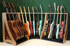 Wooden Multiple Guitar Rack, woodworking plans speaker boxes, Woodworking Home Based Business Guitar Storage, Guitar Display, Guitar Rack, Diy Guitar Stand, Guitar Hooks, Music Guitar, Cool Guitar, Acoustic Guitar, Ukulele