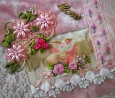 I ❤ crazy quilting, beading & ribbon embroidery . . . Valentine Crazy Quilt Block ~By NickiLee