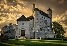 Bobolice Castle. A royal castle built in the middle of the 14th century in the Polish Jura, in the village of Bobolice.