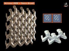 Zbrush 4r7 - Armour IMM + Nano Brush - YouTube