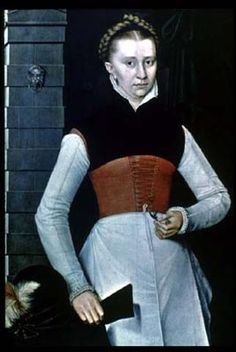 Working class Tudor dress. Don't see many of these. Interestingly different from what was high fashion at the time.