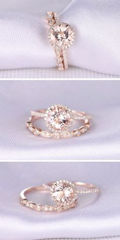 24 Rose Gold Engagement Rings That Melt Your Heart Rose gold engagement rings ha. - 24 Rose Gold Engagement Rings That Melt Your Heart Rose gold engagement rings have… – www. Rose Gold Engagement Ring, Solitaire Engagement, Wedding Engagement, Wedding Bands, Wedding Reception, Engagement Bands, Design An Engagement Ring, Lesbian Wedding Rings, Engagement Jewellery