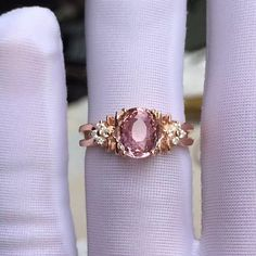 Tourmaline Engagement Ring by MissIrisJewelry on Etsy 3 Carat, Handcrafted Jewelry, Jewelry Crafts, Jewelry Making, Wedding Rings, Engagement Rings, Diamond, Etsy, Rose Gold