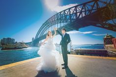 Just only both of us are dancing under the Harbour bridge and enjoying the sunshine today.