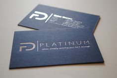 Foil Printed Business Cards by Auroraprint