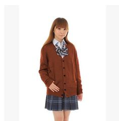 Kesebi Spring Japanese Style Female Long Sleeve V-neck Sweaters Students School Uniforms Girl Women Single Breasted Cardigans