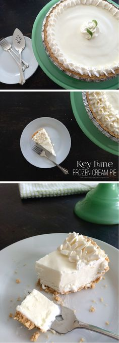A delicious and simple Key Lime Frozen Cream Pie Recipe. pamelasmerkerdesigns.com
