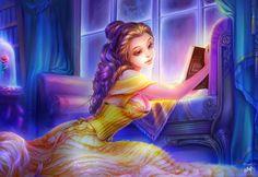 Belle (Beauty and the Beast) Belle Disney, Walt Disney, Disney Princess Art, Disney Fan Art, Cute Disney, Disney Girls, Princess Belle, Beauty And The Beast Art, Disney Renaissance