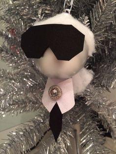 KARL WHO? KarL Lagerfeld CHRISTMAS ORNAMENTS #CHANEL