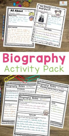 Use this biography pack to teach note taking, research, writing, & more. Your and grad eustdnets … 2nd Grade Activities, Interactive Activities, English Projects, Book Projects, Project Cover Page, Biography Project, Research Poster, Best Teacher, Teacher Stuff
