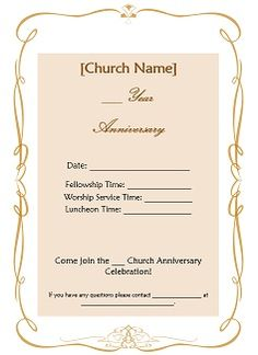 For our churchs 125 th anniversary banners i have made church anniversary ideas available free such as church anniversary invitations letters certificates m4hsunfo