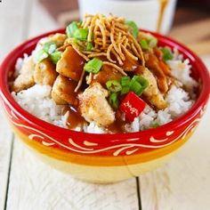 Hawaiian Hula Chicken over Rice