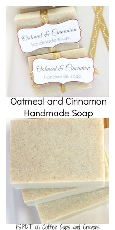 oatmeal and cinnamon handmade soap