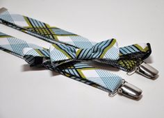 Plaid Bow Tie and Suspenders - Blue and Green Bowtie and Suspenders for Boys on Etsy, $45.99