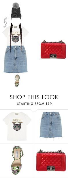 """Angkor Wat, Cambodia"" by helen-phillips-217 ❤ liked on Polyvore featuring Gucci, Topshop, Steve Madden, Chanel and Eugenia Kim"