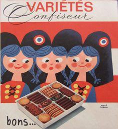Hervé Morvan Publicité française vintage par SomeVintagePapers, $11.00