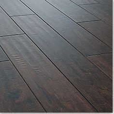 hand scraped dark wood floors... yes please!