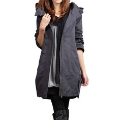online shopping for Plus Size Windbreaker Coat Women Add Cotton Loose Long Trench Coats Women's Gray Overcoats from top store. See new offer for Plus Size Windbreaker Coat Women Add Cotton Loose Long Trench Coats Women's Gray Overcoats Trench Coats Women Long, Long Trench Coat, Coats For Women, Clothes For Women, Maternity Winter Coat, Maternity Coats, Maternity Clothing, Plus Size Windbreaker, Spring Jackets