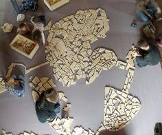 La ville rangée, by Armelle Caron Paris Map, Paris Paris, Armelle, French Artists, Shapes, City, Creative, Globe, Plans