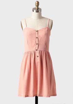 Newberry Buttoned Dress In Peach at #Ruche @shopruche